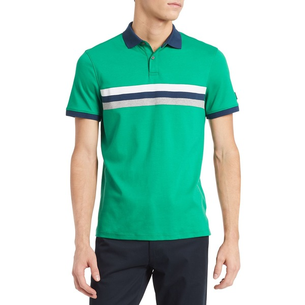 カルバンクライン メンズ シャツ トップス New Essentials Liquid Touch Regular-Fit Cotton Polo Jelly Bean