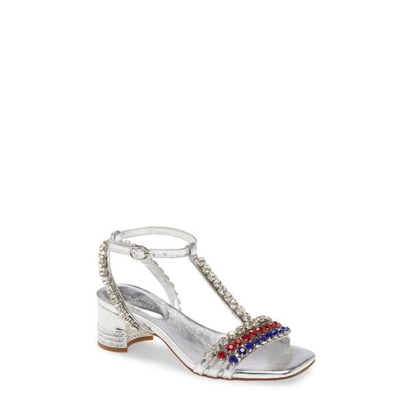 ジェフリー キャンベル レディース サンダル シューズ Reyn Jewel T-Strap Sandal Silver Multi Leather