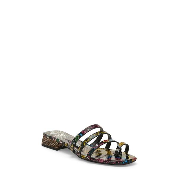 ヴィンスカムート レディース サンダル シューズ Grenda Slide Sandal Multi Snake Print Leather
