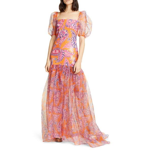ステゥド レディース ワンピース トップス Wilde Sequin Butterfly Paisley Print Maxi Dress Monarch Paisley