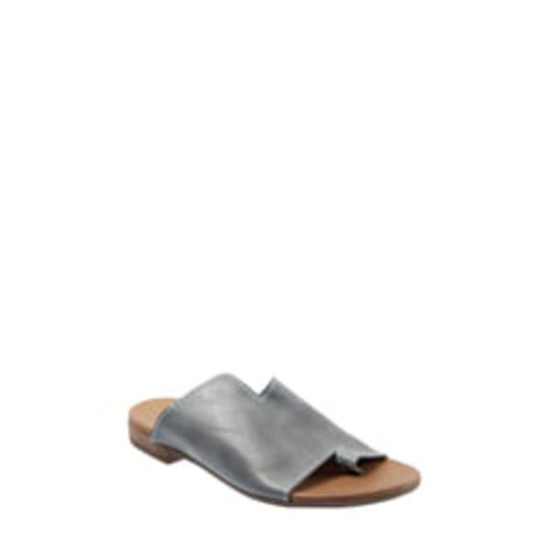 ブエノ レディース サンダル シューズ Tulla Slide Sandal Blue Leather