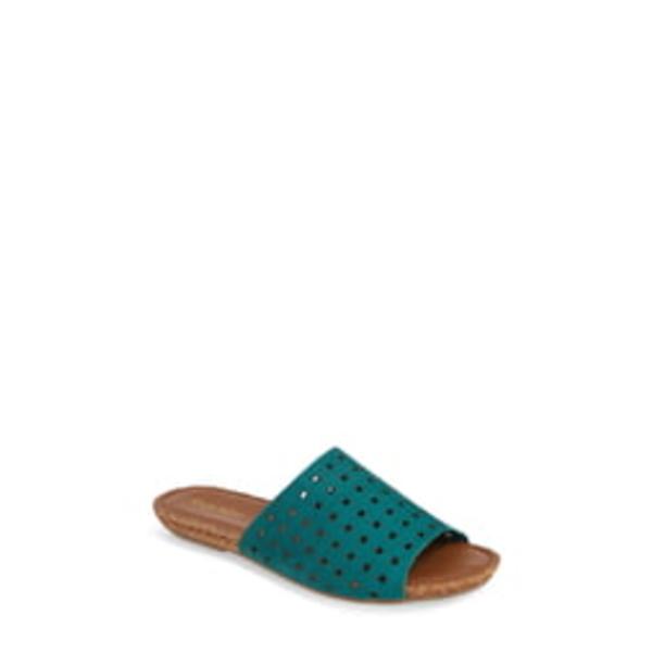 クラブニコ レディース サンダル シューズ Gratzie Woven Slide Sandal Mint Nubuck