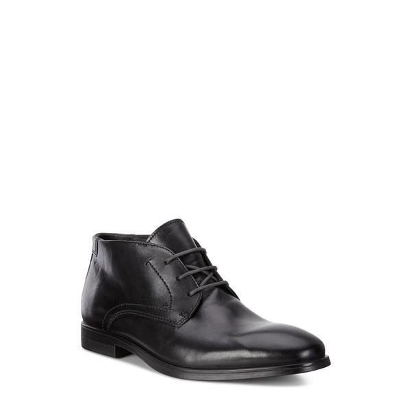 エコー メンズ ブーツ&レインブーツ シューズ Melbourne Chukka Boot Black/ Magnet