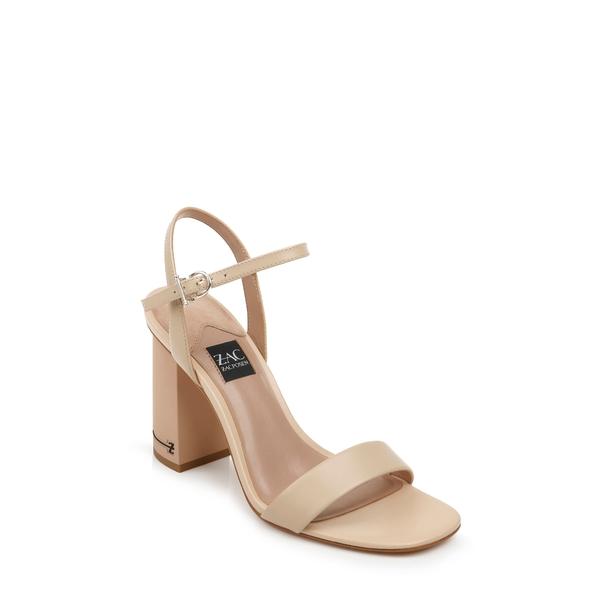 ザックポーゼン レディース サンダル シューズ Vitex Block Heel Sandal Latte Leather