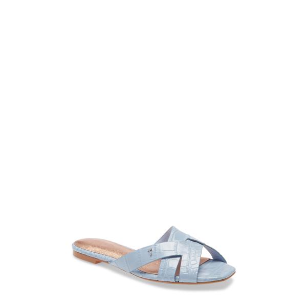 テッドベーカー レディース サンダル シューズ Zelania Slide Sandal Light Blue Croco Print