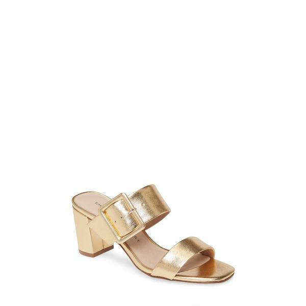 チャイニーズランドリー レディース サンダル シューズ Yippy Block Heel Sandal Gold Faux Leather