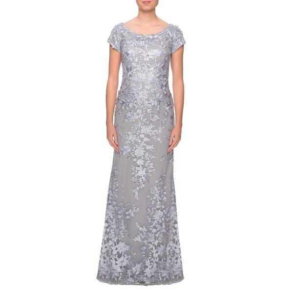 ラフェム レディース ワンピース トップス Lace A-Line Gown Silver