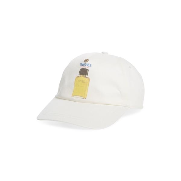 ヴェルサーチ メンズ 帽子 アクセサリー Perfume Baseball Cap Bianco Ottico