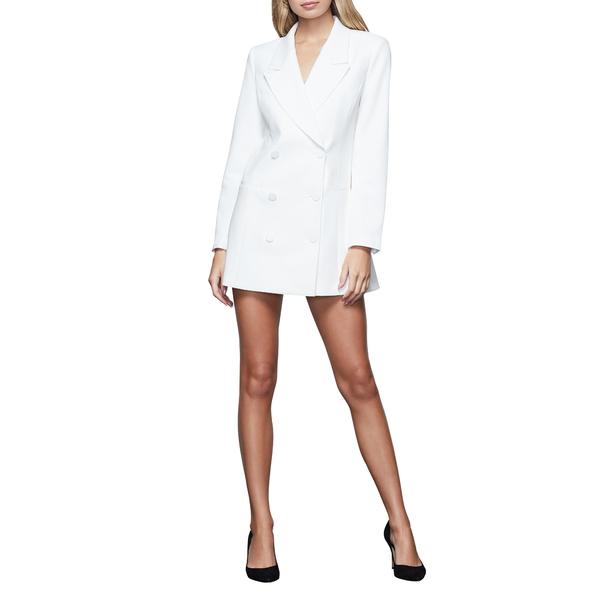 グッドアメリカン レディース ワンピース トップス Long Sleeve Double Breasted Blazer Dress Ivory
