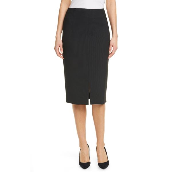 ボス レディース スカート ボトムス Vepeplum Front Slit Pencil Skirt Black