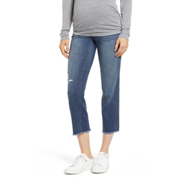 1822デニム レディース デニムパンツ ボトムス Cassie Crop Straight Leg Maternity Jeans Cassie