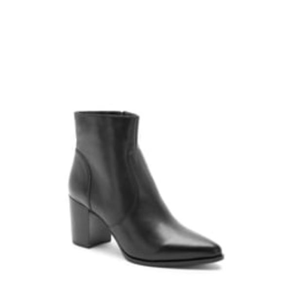 ブロンド レディース ブーツ&レインブーツ シューズ Tania Waterproof Bootie Black Leather