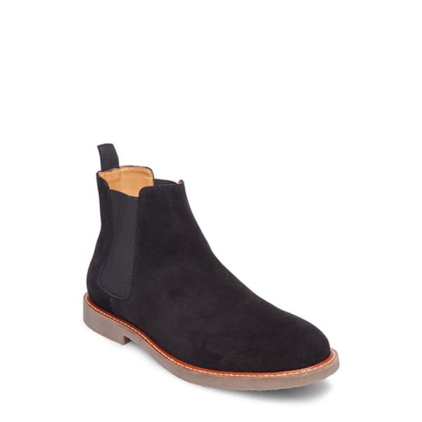 スティーブ マデン メンズ ブーツ&レインブーツ シューズ Highline Chelsea Boot Black Suede