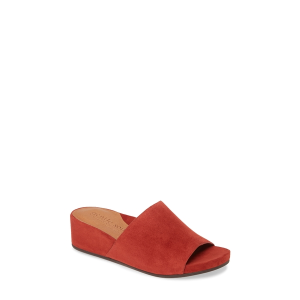ケネスコール レディース サンダル シューズ Gianna Slide Sandal Dark Red Leather