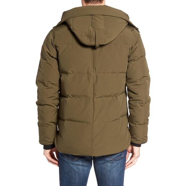 カナダグース メンズ ジャケット&ブルゾン アウター 'MacMillan' Slim Fit Hooded Parka Military Green 修理保証 防災 七夕祭り