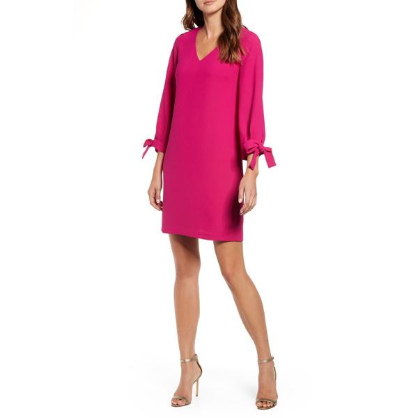 セセ レディース ワンピース トップス Tie Sleeve A-Line Dress Plumeria
