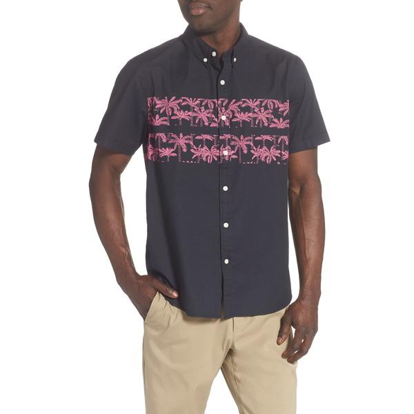 チャビーズ メンズ シャツ トップス The Weekend Getaway Short Sleeve Button-Down Shirt Charcoal