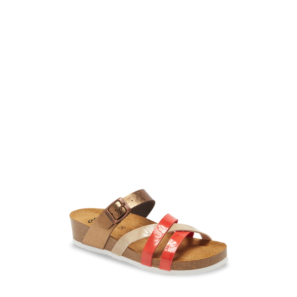 アラ レディース サンダル シューズ Beth Slide Sandal Corallo/ Bronze Faux Leather