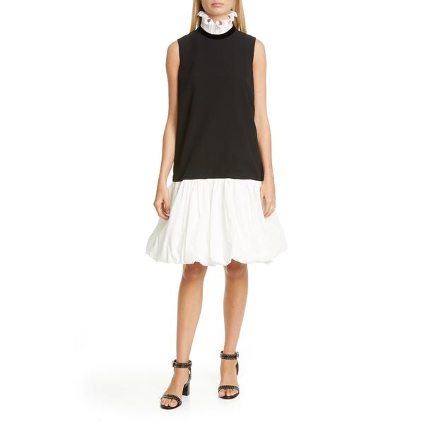 ジバンシー レディース ワンピース トップス Frill Collar Balloon Hem Shift Dress Black/ White