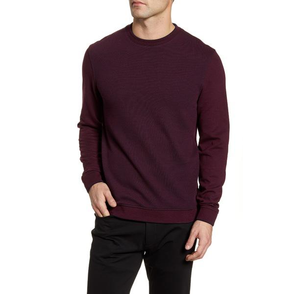 テッドベーカー メンズ シャツ トップス Raket Textureblock Crewneck Sweatshirt Deep Purple