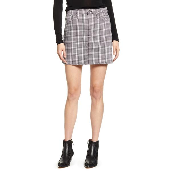 エージー レディース スカート ボトムス Harlo Plaid Miniskirt Hounds Pl White/ Black
