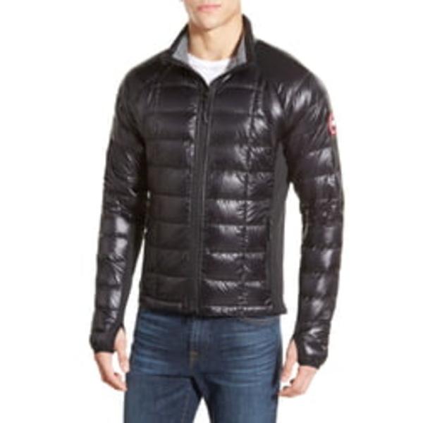 カナダグース メンズ ジャケット&ブルゾン アウター 'Hybridge Lite' Slim Fit Packable Jacket Black