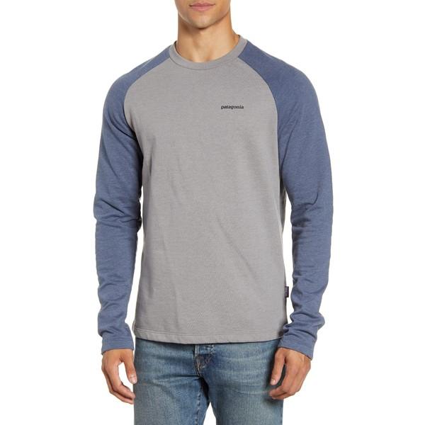 パタゴニア メンズ シャツ トップス P-6 Logo Regular Fit Lightweight Sweatshirt Feather Grey/ Dolomite Blue