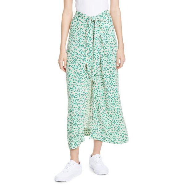 ガニー レディース スカート ボトムス Print Tie Waist Midi Skirt Tapioca