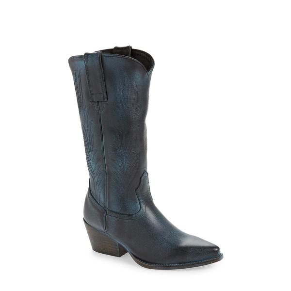 スティーブ マデン レディース ブーツ&レインブーツ シューズ Western Boot Blue Leather