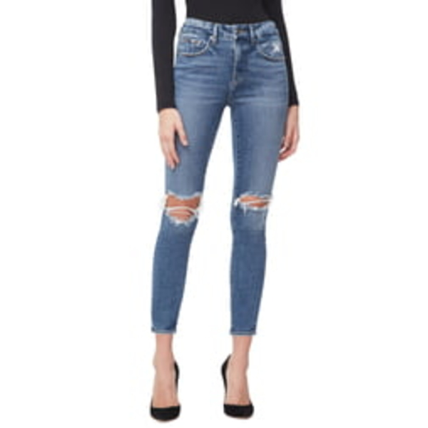 グッドアメリカン レディース デニムパンツ ボトムス Good Legs High Waist Crop Skinny Jeans Blue 261