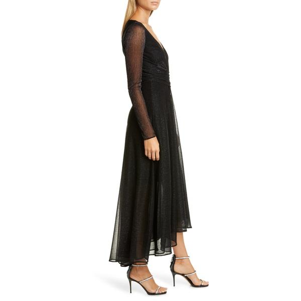 タルボールホフ レディース ワンピース トップス Long Sleeve Metallic Voile Gown BlackyN8nv0wOm