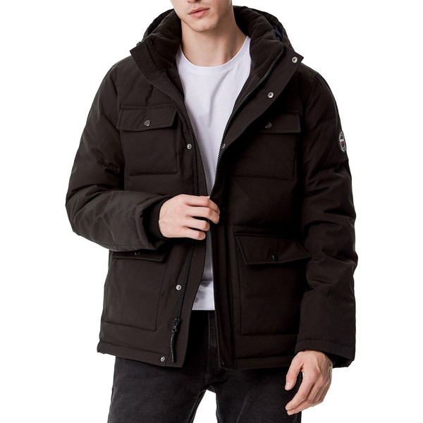 <title>Tommy Hilfiger メンズ アウター ジャケット ブルゾン Black 全商品無料サイズ交換 トミー ヒルフィガー Men's Quilted 4 国内正規総代理店アイテム Pocket Hooded Puffer Jacket</title>