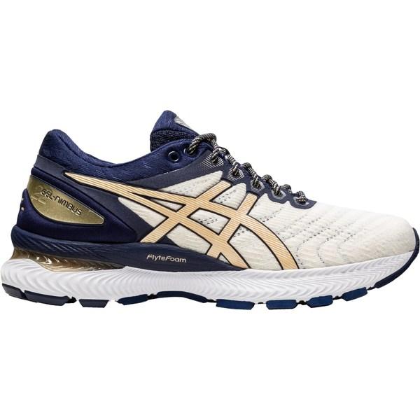 <title>ASICS レディース スポーツ 2020新作 ランニング White Gold 全商品無料サイズ交換 アシックス Women's GEL-Nimbus 22 Running Shoes</title>