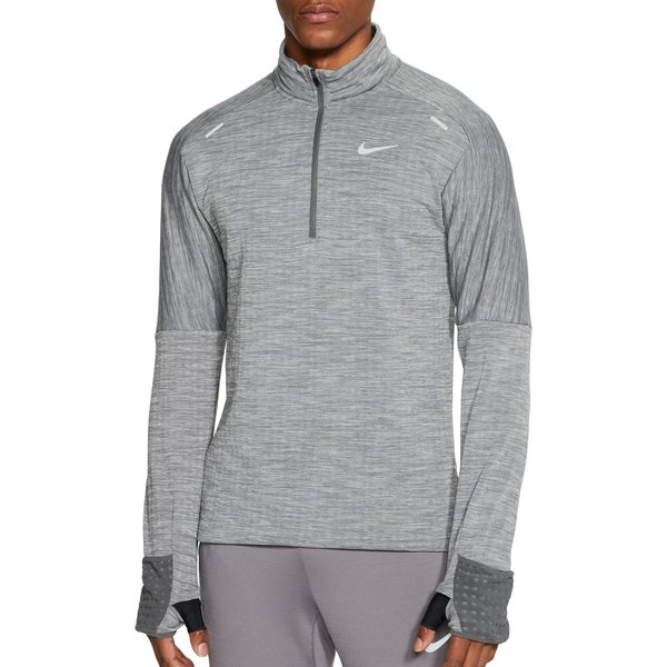 ナイキ メンズ シャツ トップス Nike Men's Sphere -Zip Running Top IronGrey/Htr