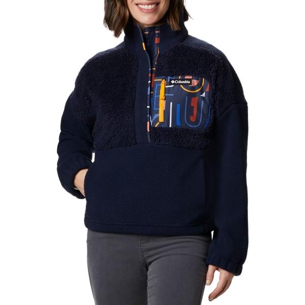 コロンビア レディース ジャケット&ブルゾン アウター Columbia Women's Lodge Sherpa Full-Zip Sherpa Pullover DrkNctrnl/MltiTypoPrnt