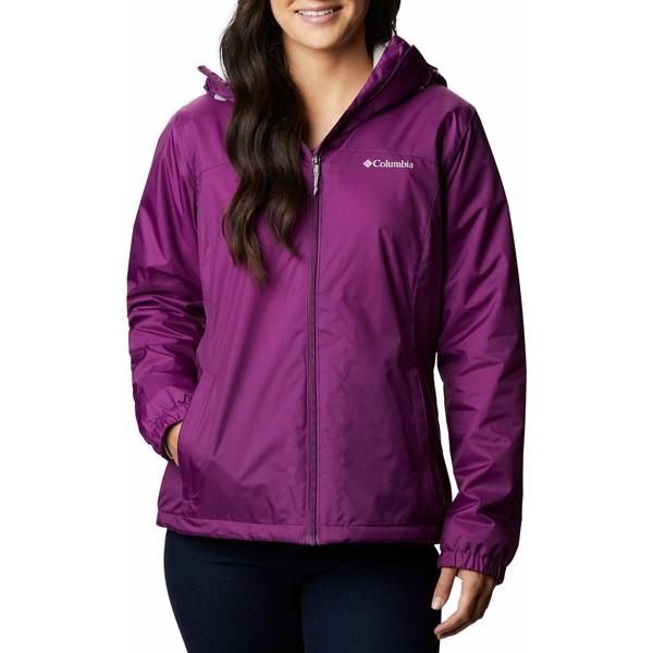 コロンビア レディース ジャケット&ブルゾン アウター Columbia Women's Switchback Sherpa Lined Jacket Plum