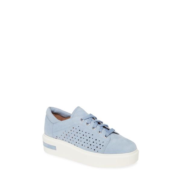 リネアパウロ レディース スニーカー シューズ Kendra Platform Sneaker Sky Blue Suede