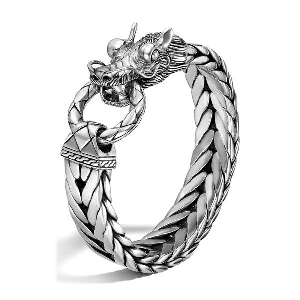 ジョン・ハーディー メンズ ブレスレット・バングル・アンクレット アクセサリー Men's Legends Naga Dragon Head Bracelet Silver