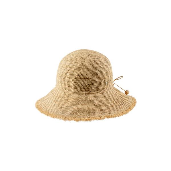 ヘレンカミンスキー レディース ヘアアクセサリー アクセサリー Emmie 9 Packable Raffia Hat Natural/ Natural Fringe
