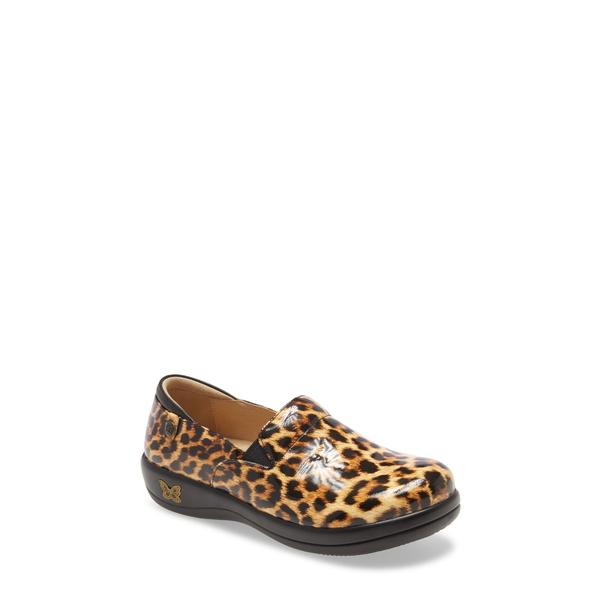 アレグリア レディース サンダル シューズ 'Keli' Embossed Clog Leopard Print Leather