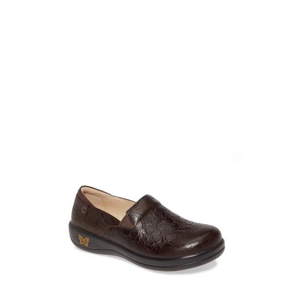 アレグリア レディース サンダル シューズ 'Keli' Embossed Clog Flutter Chocolate Leather