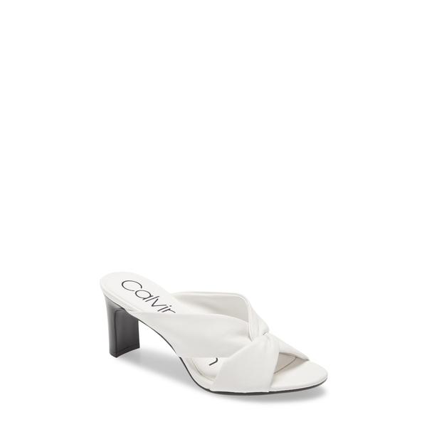 カルバンクライン レディース サンダル シューズ Omarion Sandal White Leather