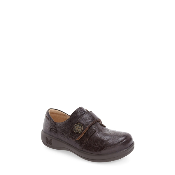 アレグリア レディース サンダル シューズ 'Joleen' Slip-On Molasses Tooled Leather