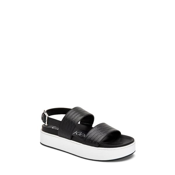 カルバンクライン レディース サンダル シューズ Jolie Platform Sandal Black Leather