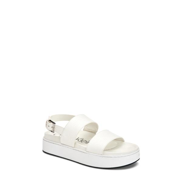 カルバンクライン レディース サンダル シューズ Jolie Platform Sandal White Leather