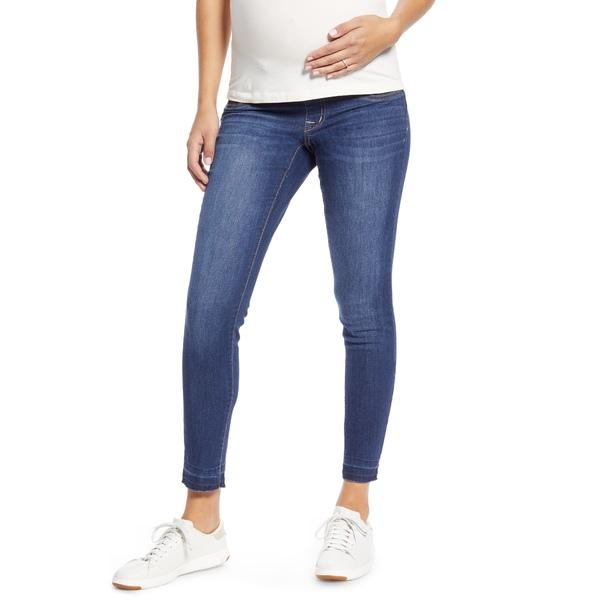 1822デニム レディース デニムパンツ ボトムス Released Raw Hem Maternity Skinny Jeans Crystal
