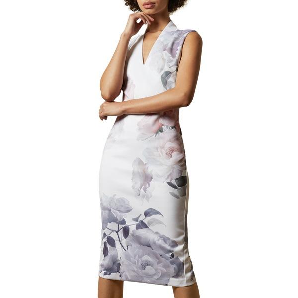 テッドベーカー レディース ワンピース トップス Marah Bouquet Body-Con Dress Ivory