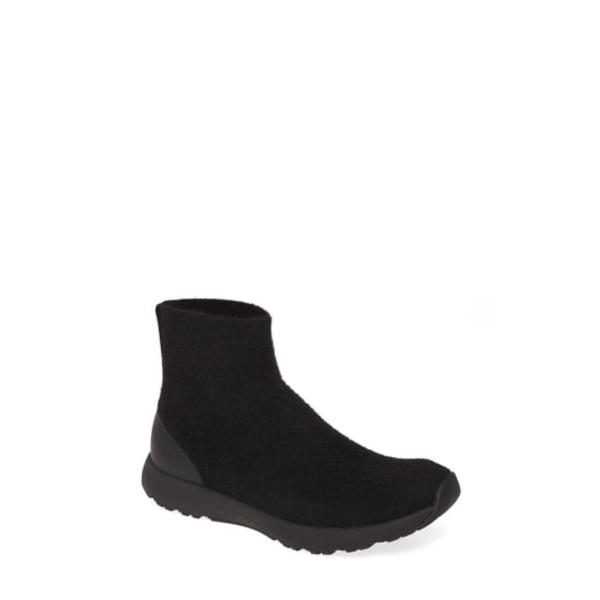 アレグリア レディース スニーカー シューズ Qirk Slip-On Sneaker The Fuzz Black Fabric