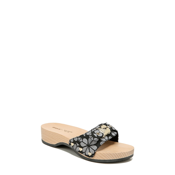 ドクター・ショール レディース サンダル シューズ 'Original - Exercise' Slide Sandal Black/ White Flower Fabric