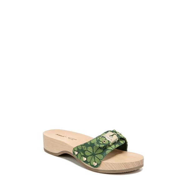 ドクター・ショール レディース サンダル シューズ 'Original - Exercise' Slide Sandal Lime Green Flower Fabric